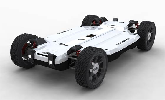 Trexa Has Revealed All Wheel Drive Vehicle Development Platform That Allows You To Build Your Own Electric Upon