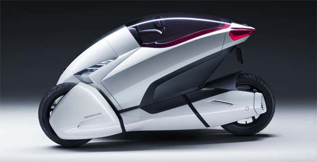 Honda Has Revealed The 3r C Three Wheel Electric Concept Car Which Will Make Its Debut At Geneva Motor Show Next Week