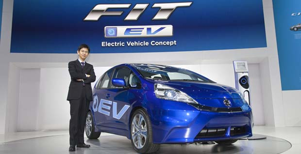 Honda Fit Ev Concept Unveiled At La Auto Showhonda Has