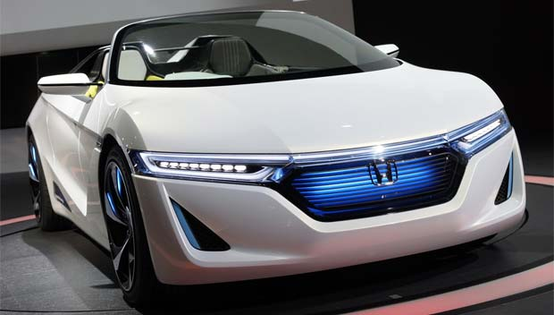 This Is The Honda Ev Ster An Electric Ed Roadster That Signals Future Style And Potential Propulsion For Company S Athletic Endeavors