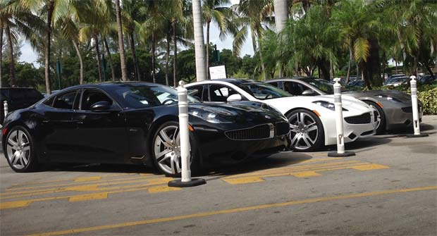 Fisker Automotive Lost More Than 30 Million Worth Of Luxury Cars When A Shipment Karma Plug In Hybrids Was Flooded During Superstorm Sandy Last Week