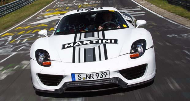 porsche 918 spyder turns in lap time of 07 14 minutes at nurburgring. Black Bedroom Furniture Sets. Home Design Ideas