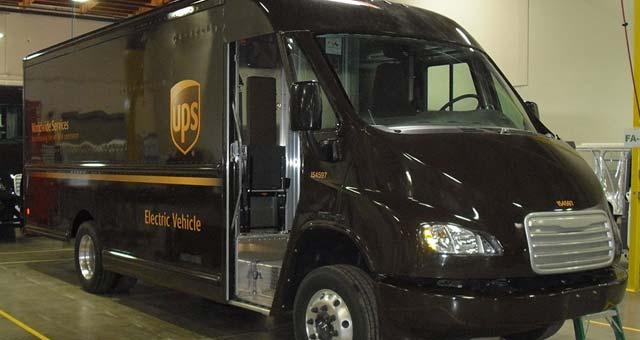 UPS Electric Trucks Hit California Streets