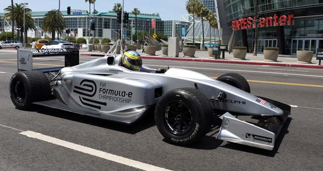 Mayor Antonio Villaraigosa Officially Welcomed The Fia Formula E Championship To Los Angeles Today On Earth Day Becoming One Of 10 Global Cities Host