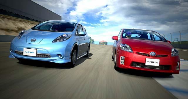 Nissan-Leaf-Toyota-Prius