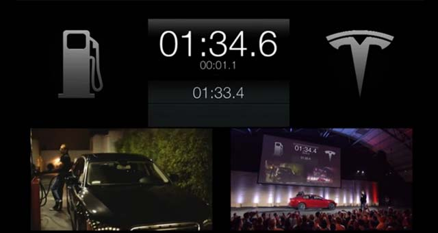 Tesla Demonstrates 90-second Battery Swapping Technology