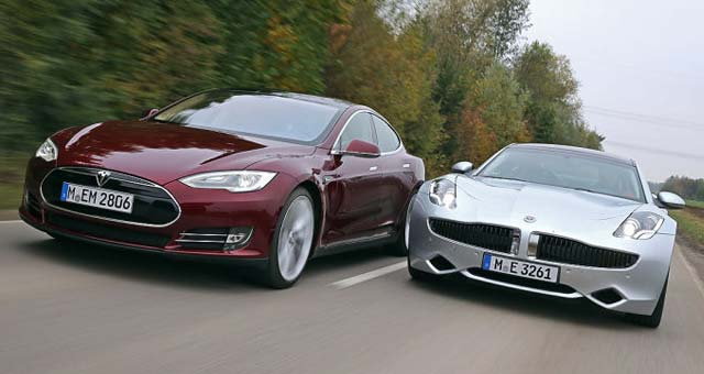 Tesla Model S Fisker Karma