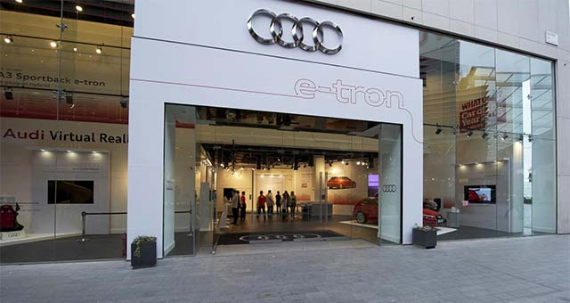 Audi-A3-e-tron-Store-London