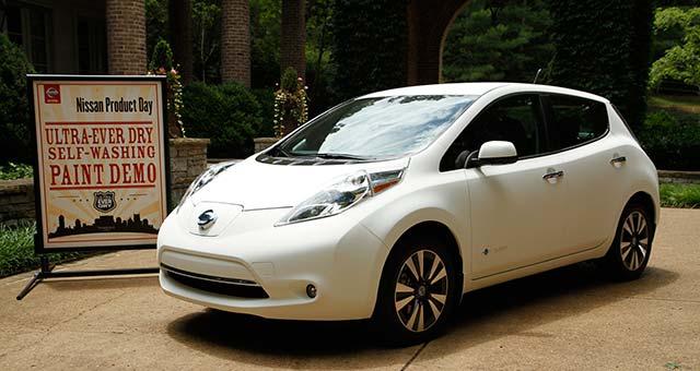 Self-Cleaning-Nissan-Leaf
