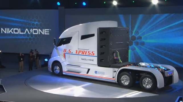 Nikola One Hydrogen Electric Semi Truck Unveiled Video